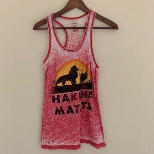 3/$15 Hakuna Matata Lion King Burn Out Tank
